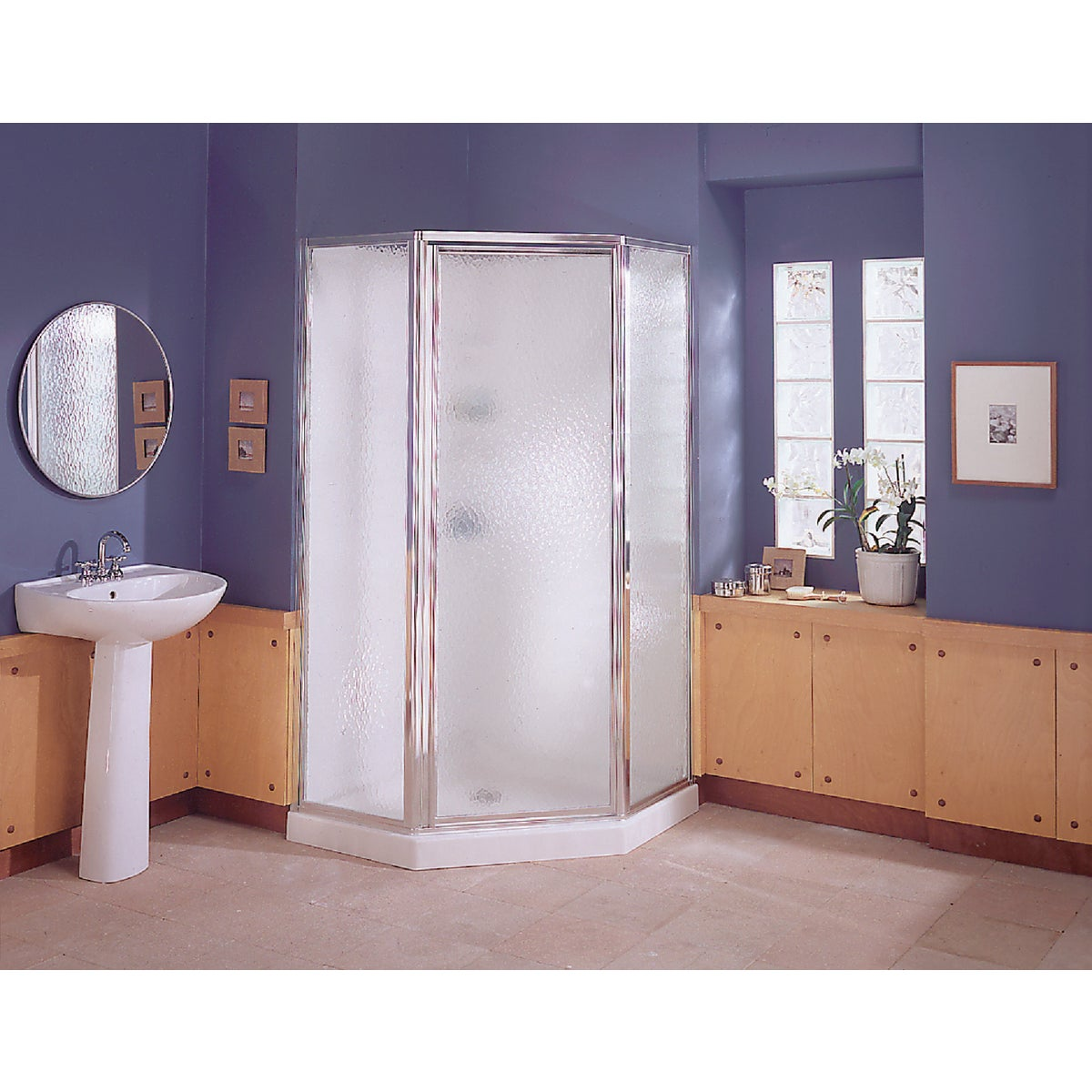 NEO-ANGLE SHOWER SYSTEM - NI3190A-38S/W by Sterling Doors