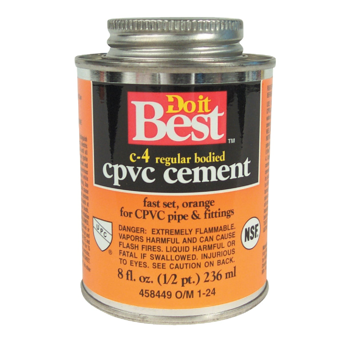 1/2PINT CPVC CEMENT - 018714 by Wm H Harvey Co