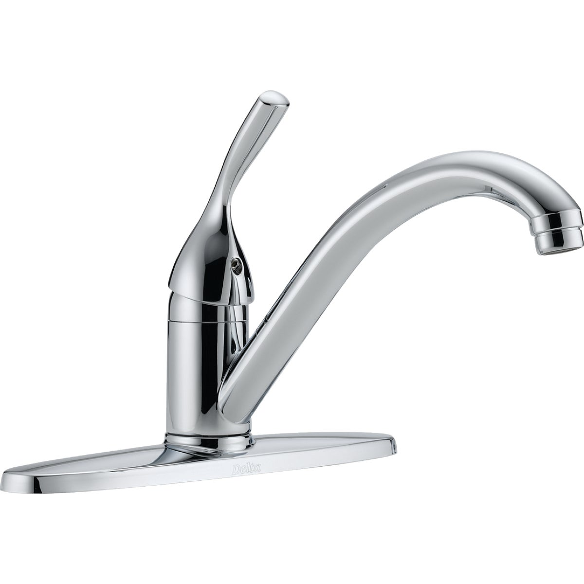 1H CHROME KITCHEN FAUCET - 100-DST by Delta Faucet Co