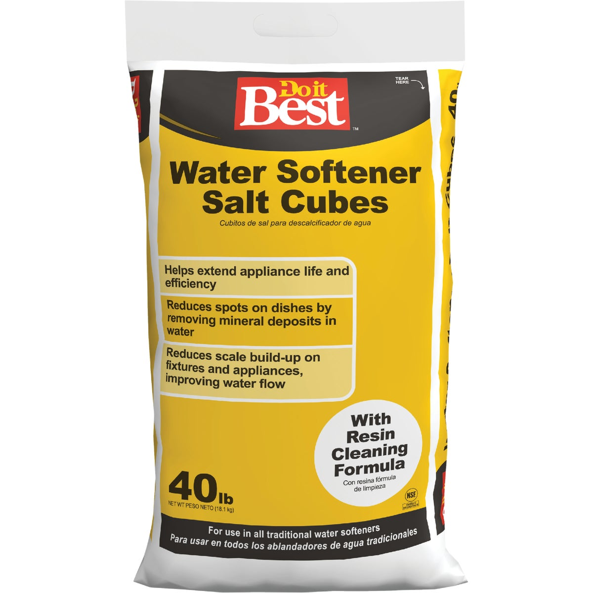 40LB CUBE SOFTENER SALT - 32912 by North American Salt
