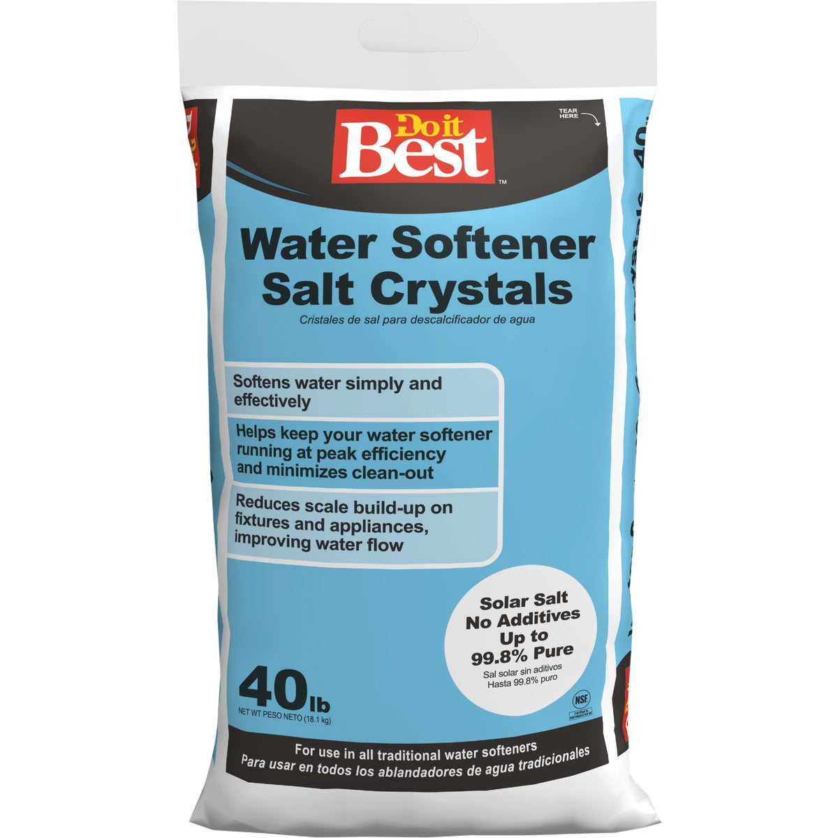 40LB X-CRS SOFTENER SALT - 34910 by North American Salt