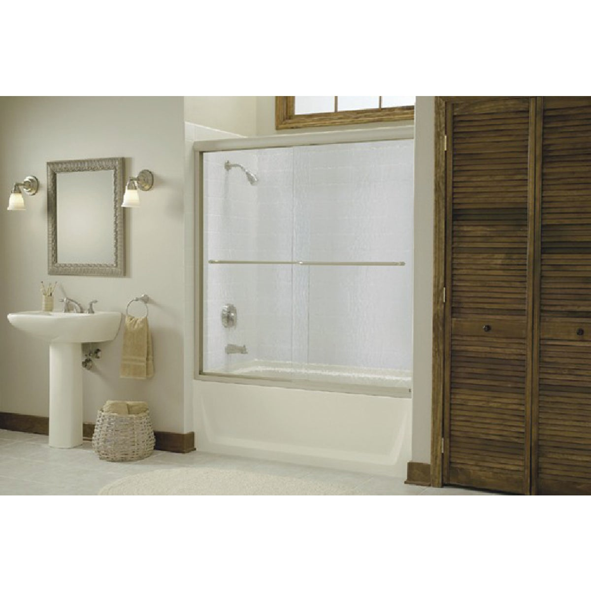 SILVER BY-PASS TUB DOOR - 5425-59S-G05 by Sterling Doors