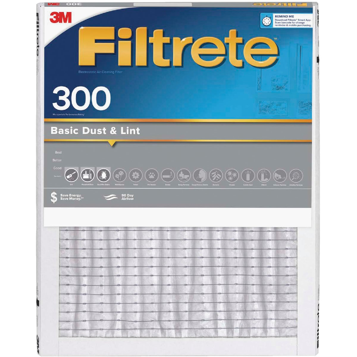 3M Filtrete 16 In. x 25 In. x 1 In. Dust Reduction 300 MPR Furnace Filter