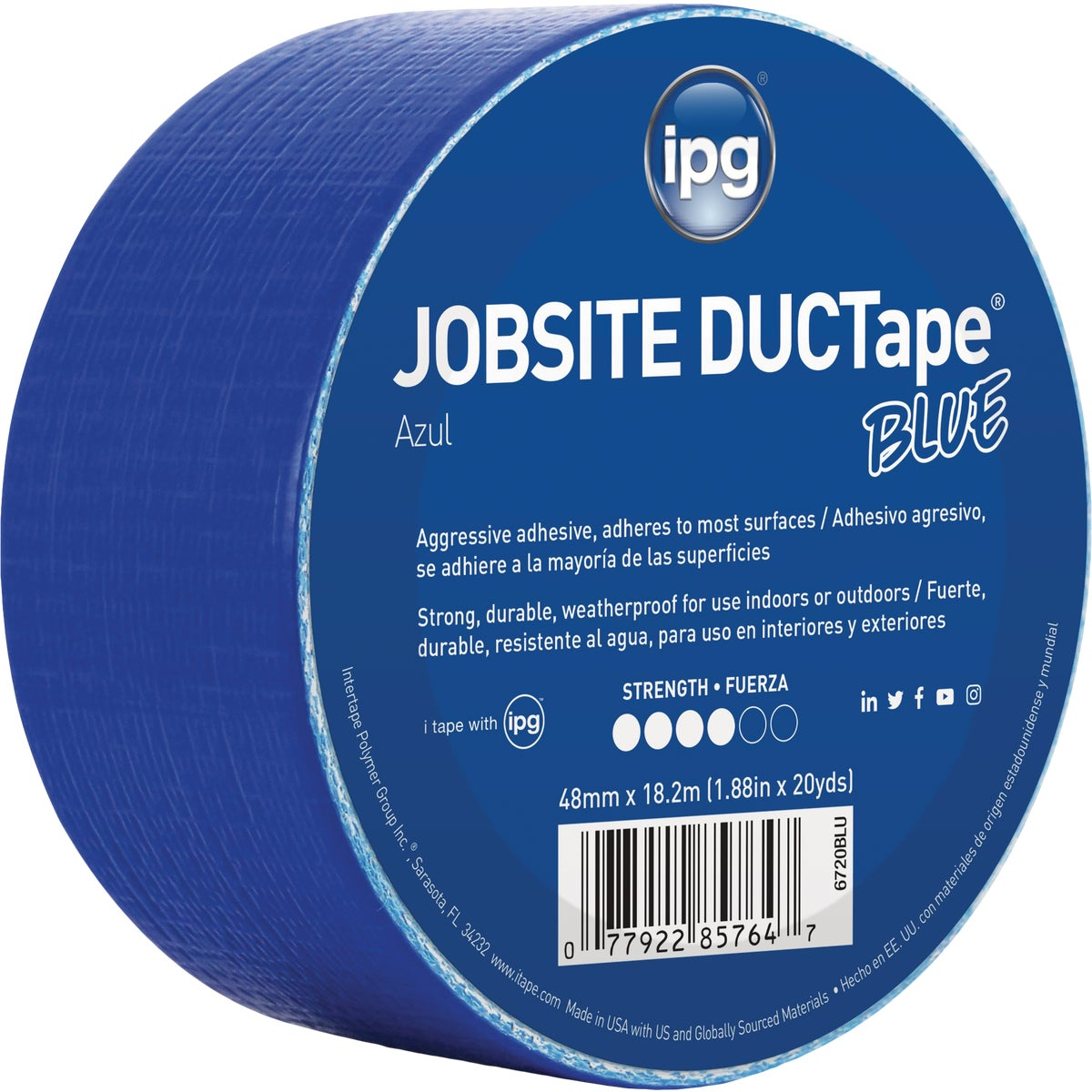 20YDS DUCT TAPE BLUE - 6720BLU by Intertape Polymer
