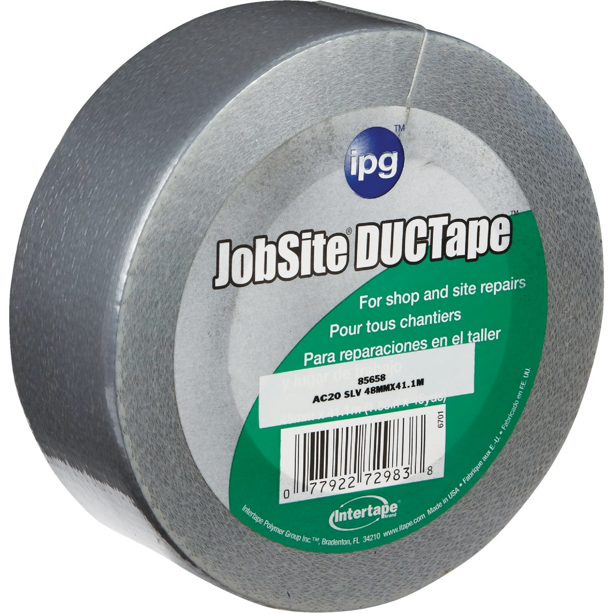 "2""X45YD SILVER DUCT TAPE - 6701 by Intertape Polymer"