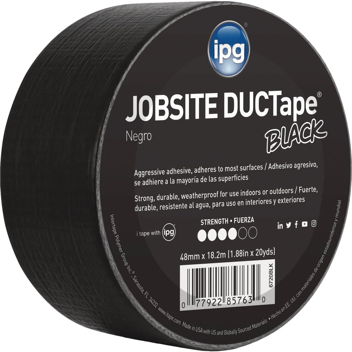 20YDS DUCT TAPE BLACK - 6720BLK by Intertape Polymer