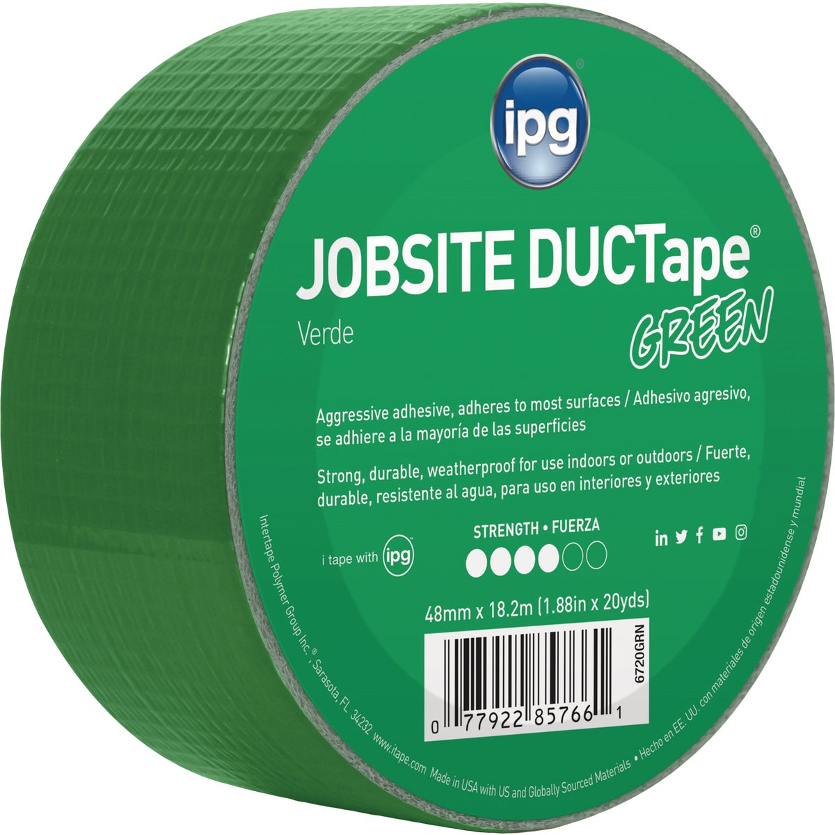 20YDS DUCT TAPE GREEN - 6720GRN by Intertape Polymer