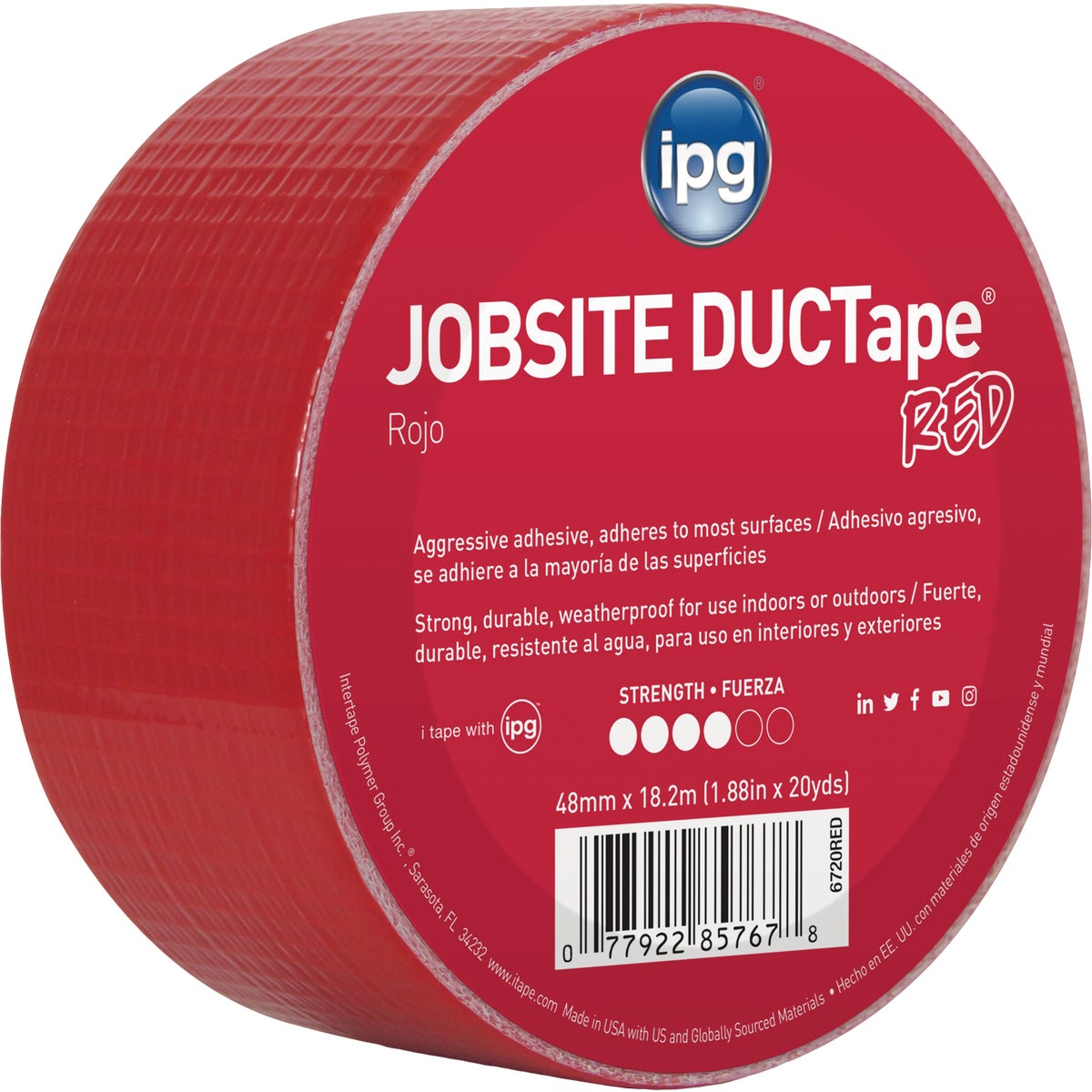 20YDS DUCT TAPE RED - 6720RED by Intertape Polymer