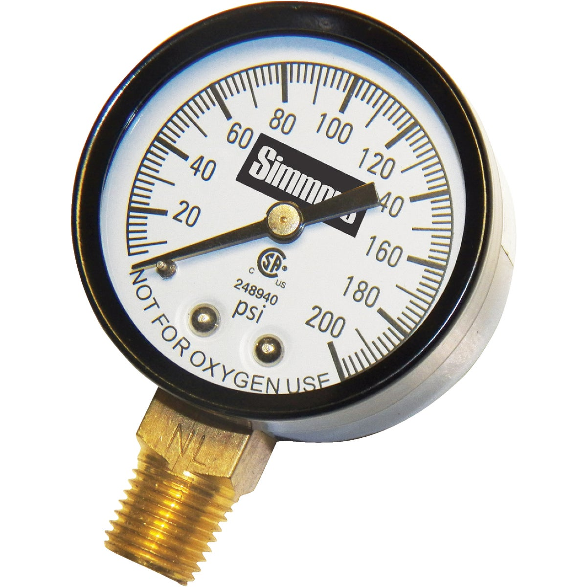 "200PSI 1/4""PRESURE GAUGE - 1306 by Simmons Mfg Co"