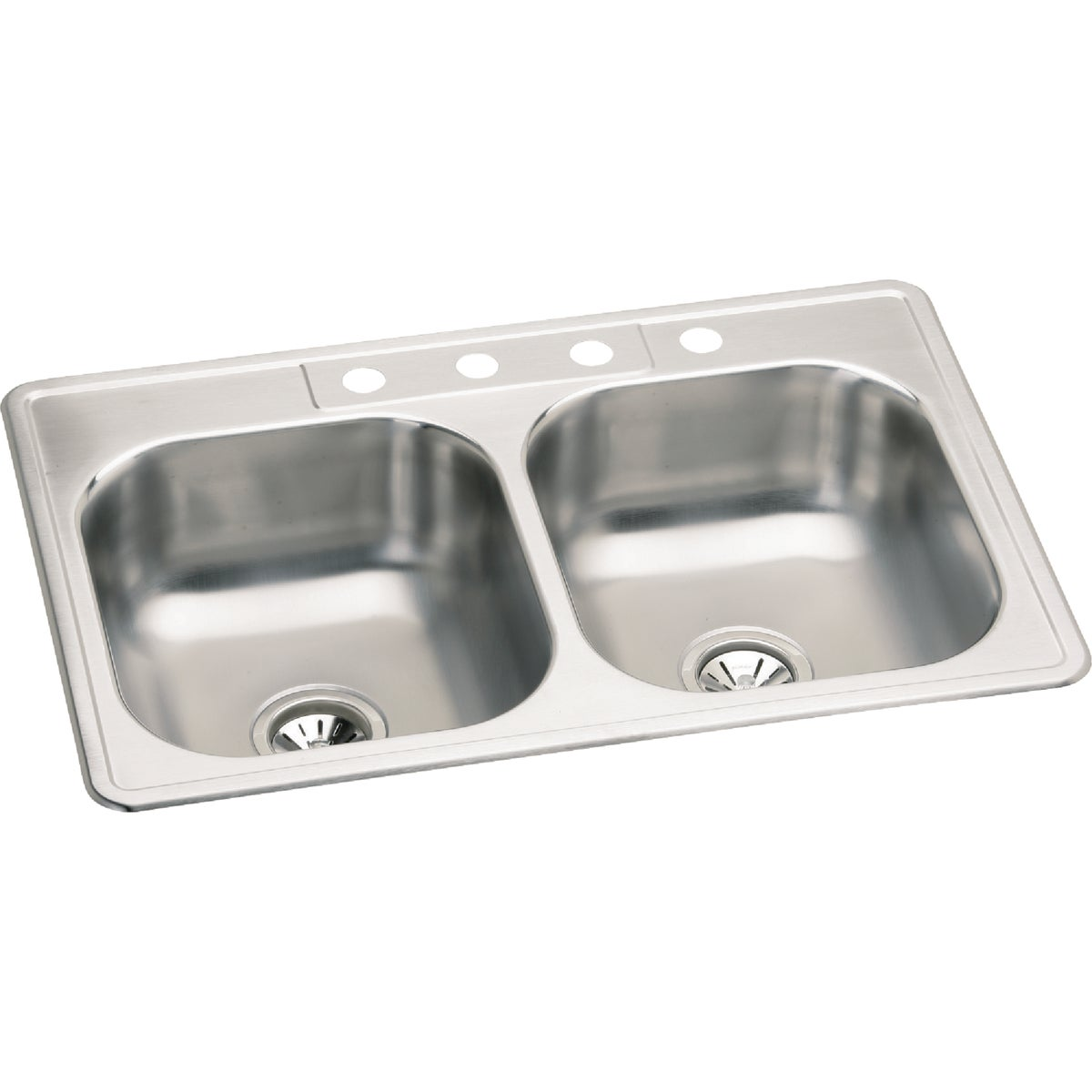 "7"" SS DOUBLE-BOWL SINK - NBC33224 by Elkay Neptune"