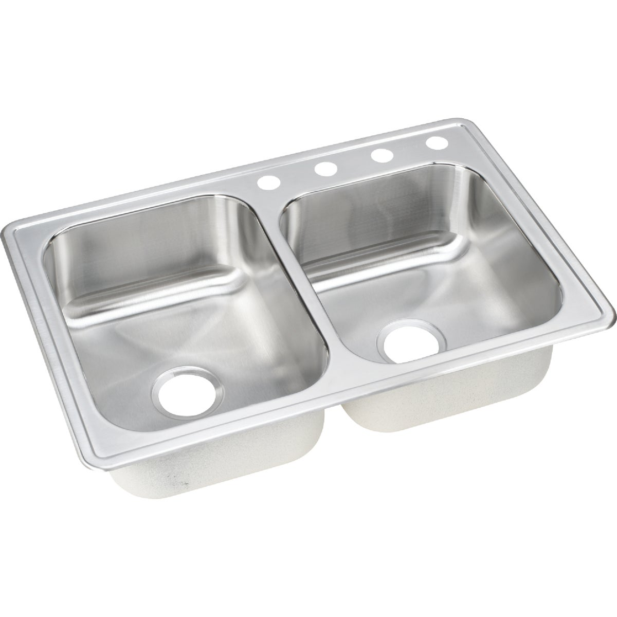 "8"" SS DOUBLE-BOWL SINK - NLB2504 by Elkay Neptune"