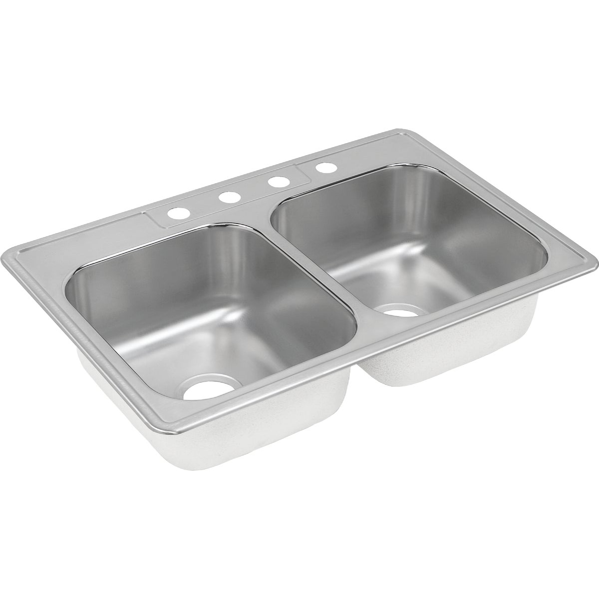 "8"" SS DOUBLE-BOWL SINK"