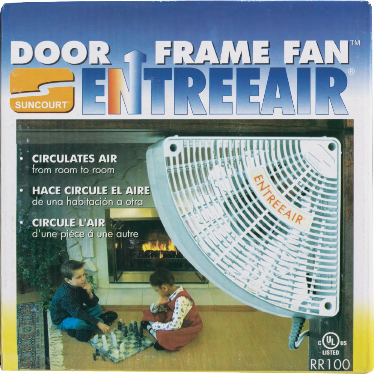 WHITE DOOR FRAME FAN