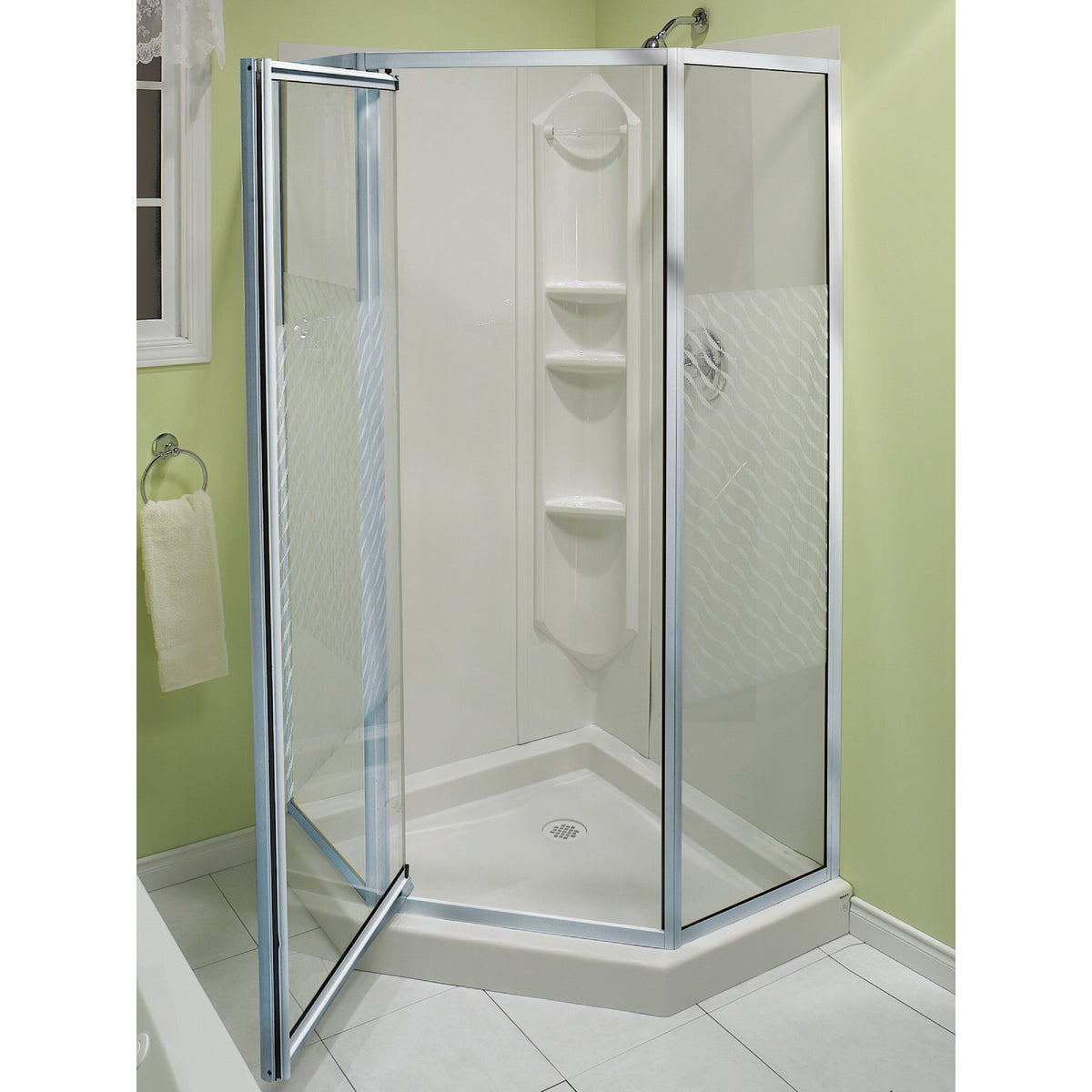 CHROME NEO-ANGLE SHOWER - 101694-084 by Maax Bath