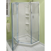 Maax USA Inc CHROME NEO-ANGLE SHOWER 101694-084