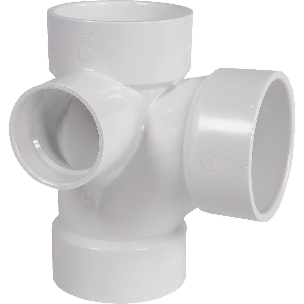 3X3X3X2 SIDE INL PVC TEE