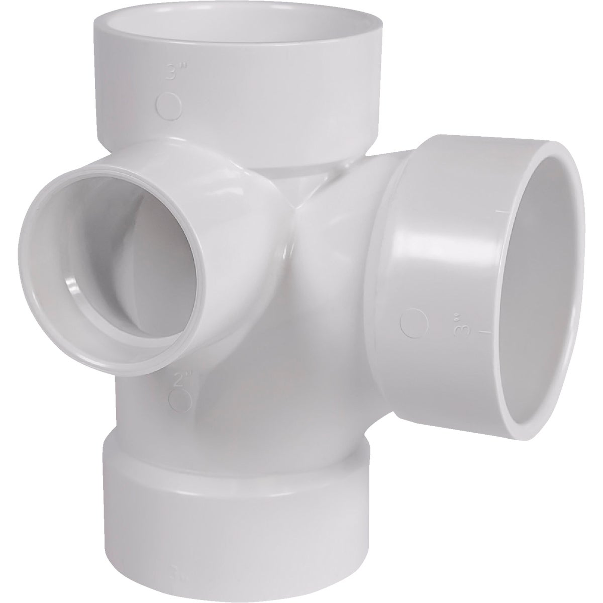 3X3X3X2 SIDE INL PVC TEE - 77132 by Genova Inc  Pvc Dwv