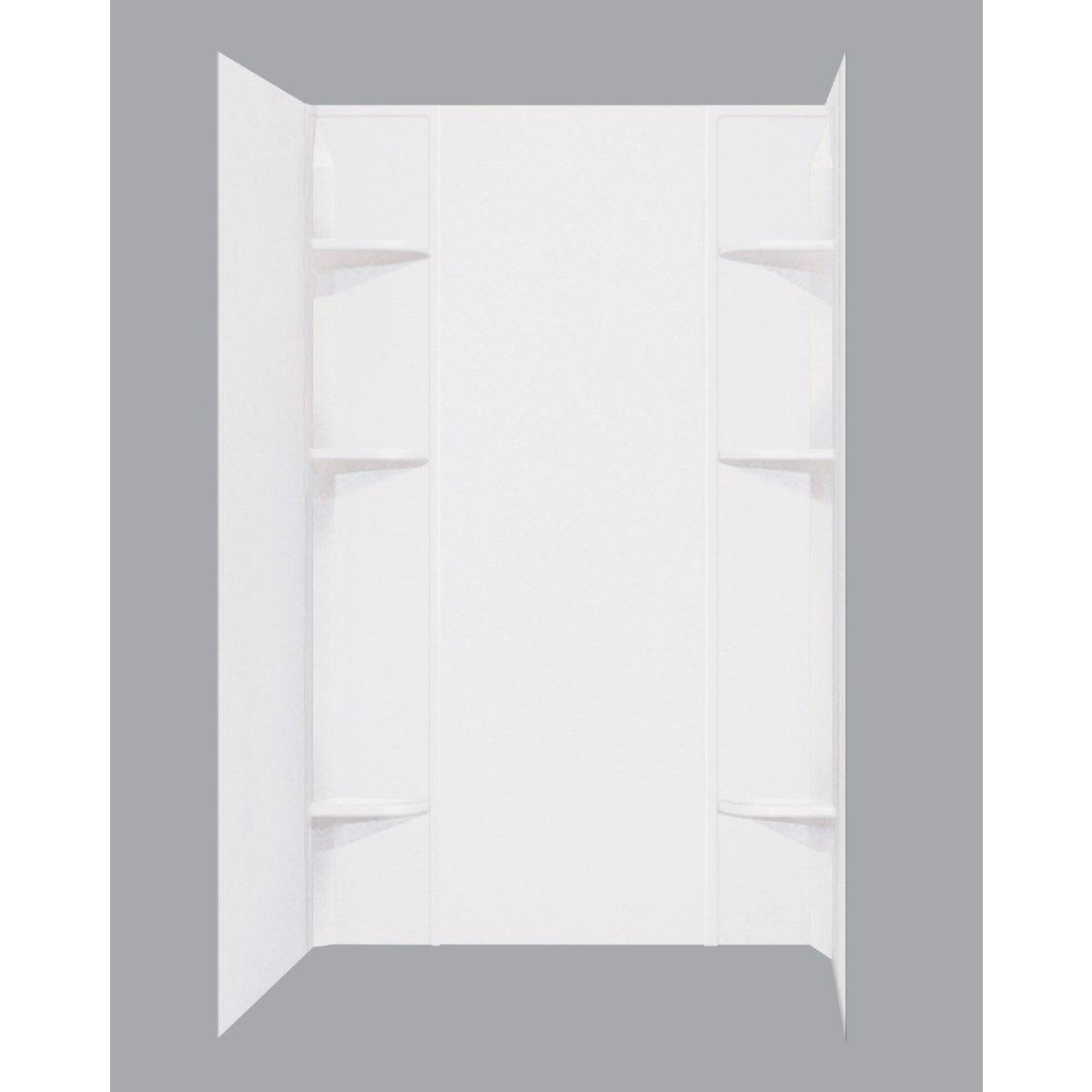 WHITE SHOWER WALL SET
