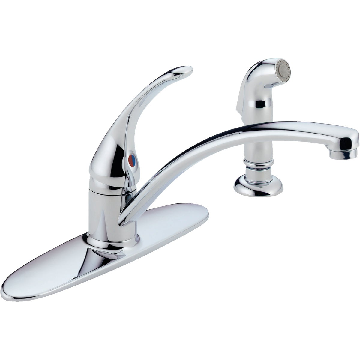 1H CHR KIT FAUCET W/SPRY - B4410LF by Delta Faucet Co