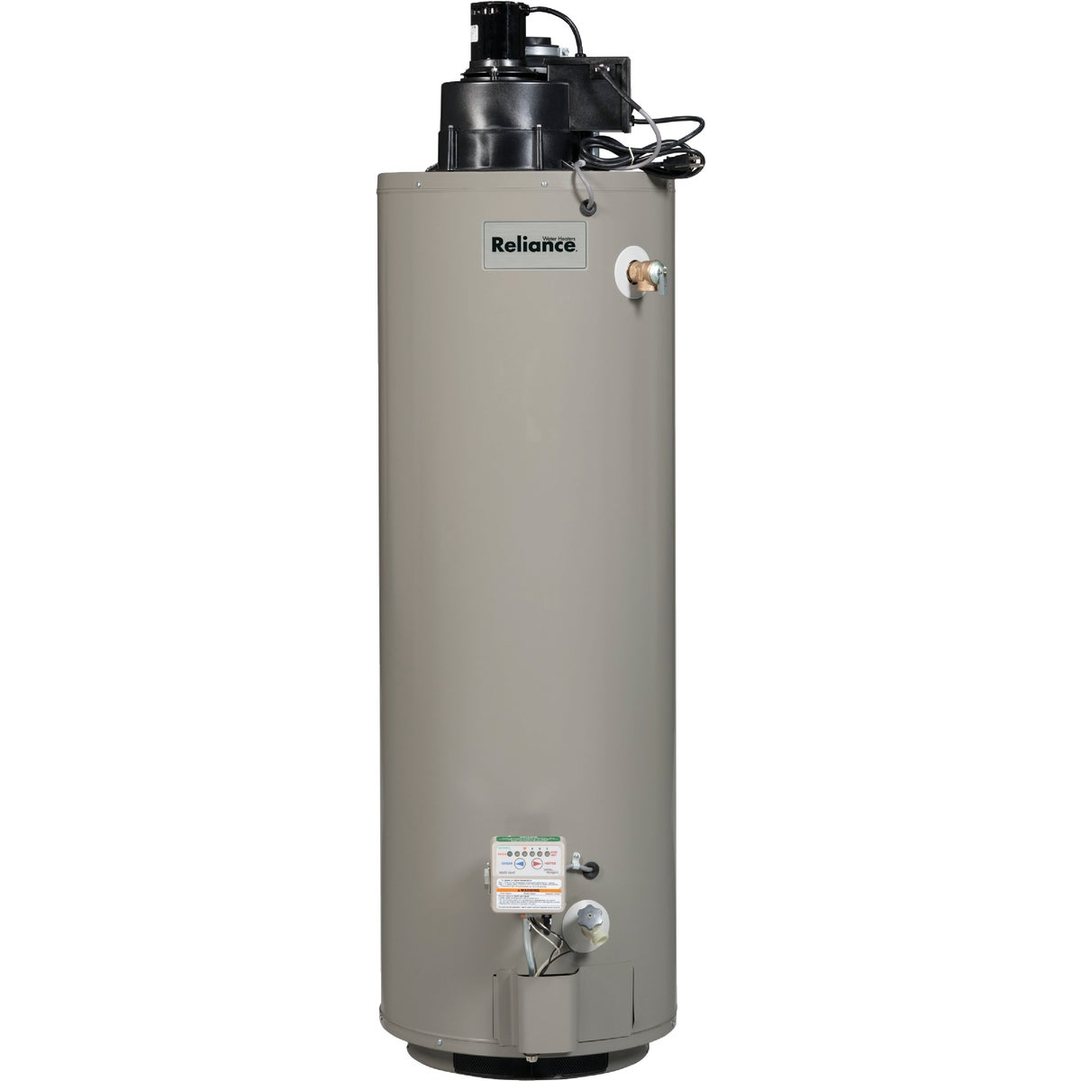 40GAL NAT GASPOWER-VENT - 6 40 YRVIT200 by Reliance Added Sales