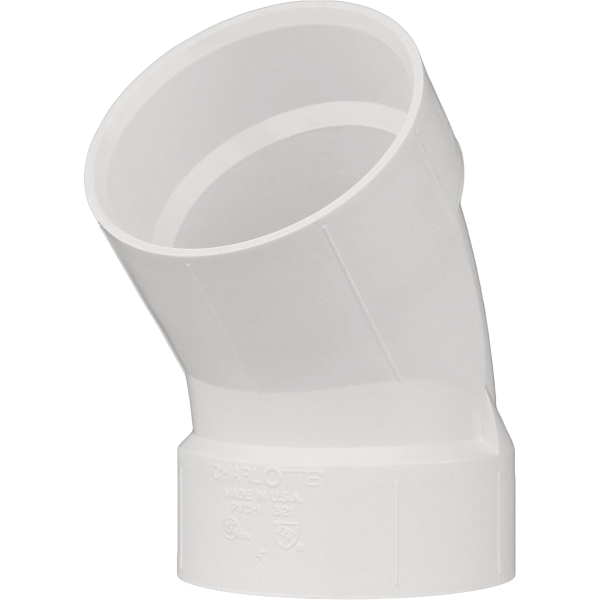 "1-1/4"" PVC-DWV 45D ELBOW - 70614 by Genova Inc  Pvc Dwv"