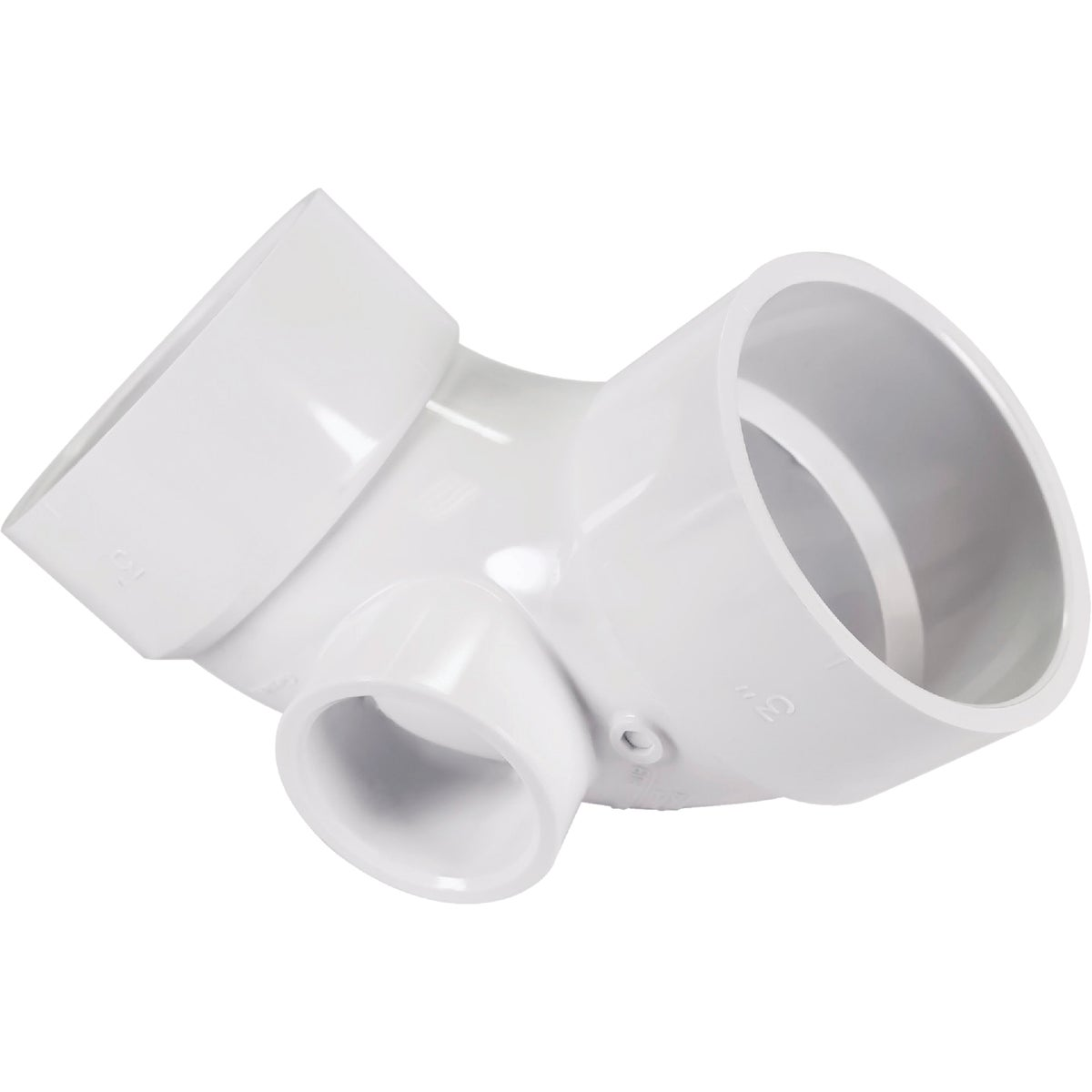 3X2/1-1/2 ELBOW W/SIDE - 73131 by Genova Inc  Pvc Dwv