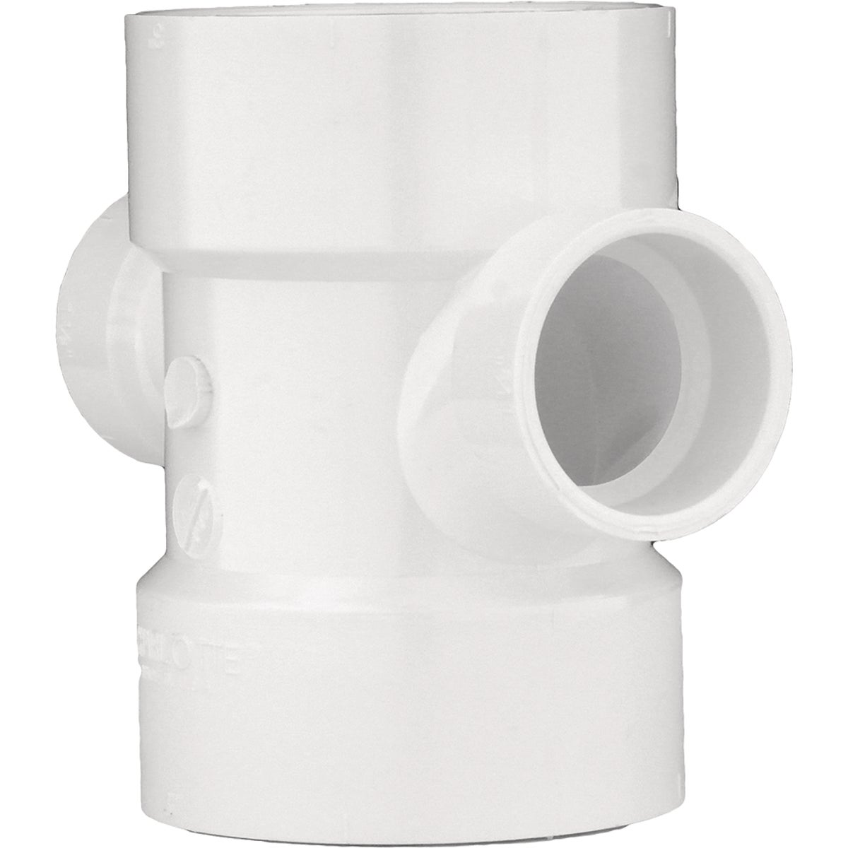 Genova Products 73542 Reducing Double Sanitary Tee Pipe Fitting, 4