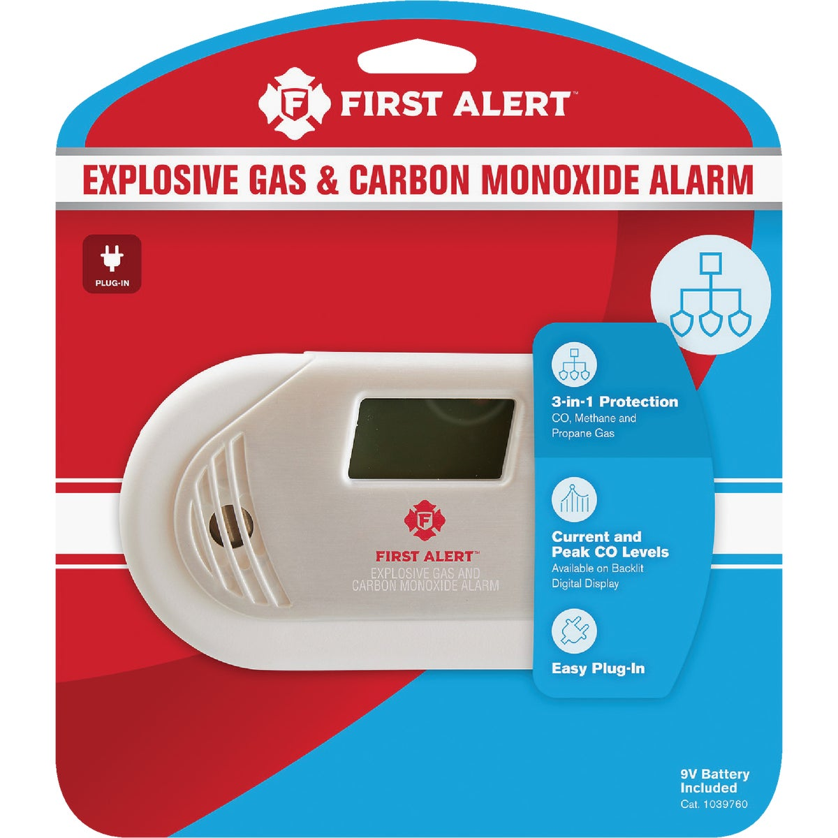 GAS AND CO DETECTOR - GC01 by First Alert  Jarden