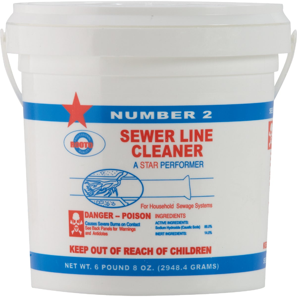 6-1/2LB SEWER CLEANER - 1010 by Rooto Corp