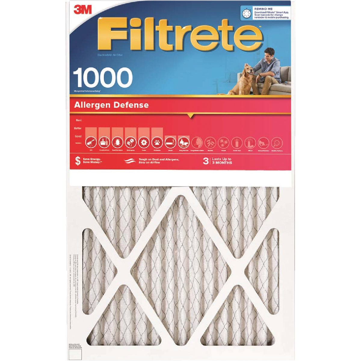 20X30X1 ALLERGEN FILTER - 9822DC-6 by 3m Co