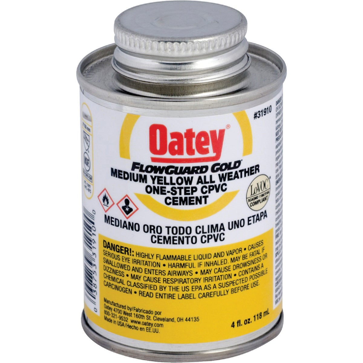 1/4PINT F/G CPVC CEMENT - 31910 by Oatey Scs