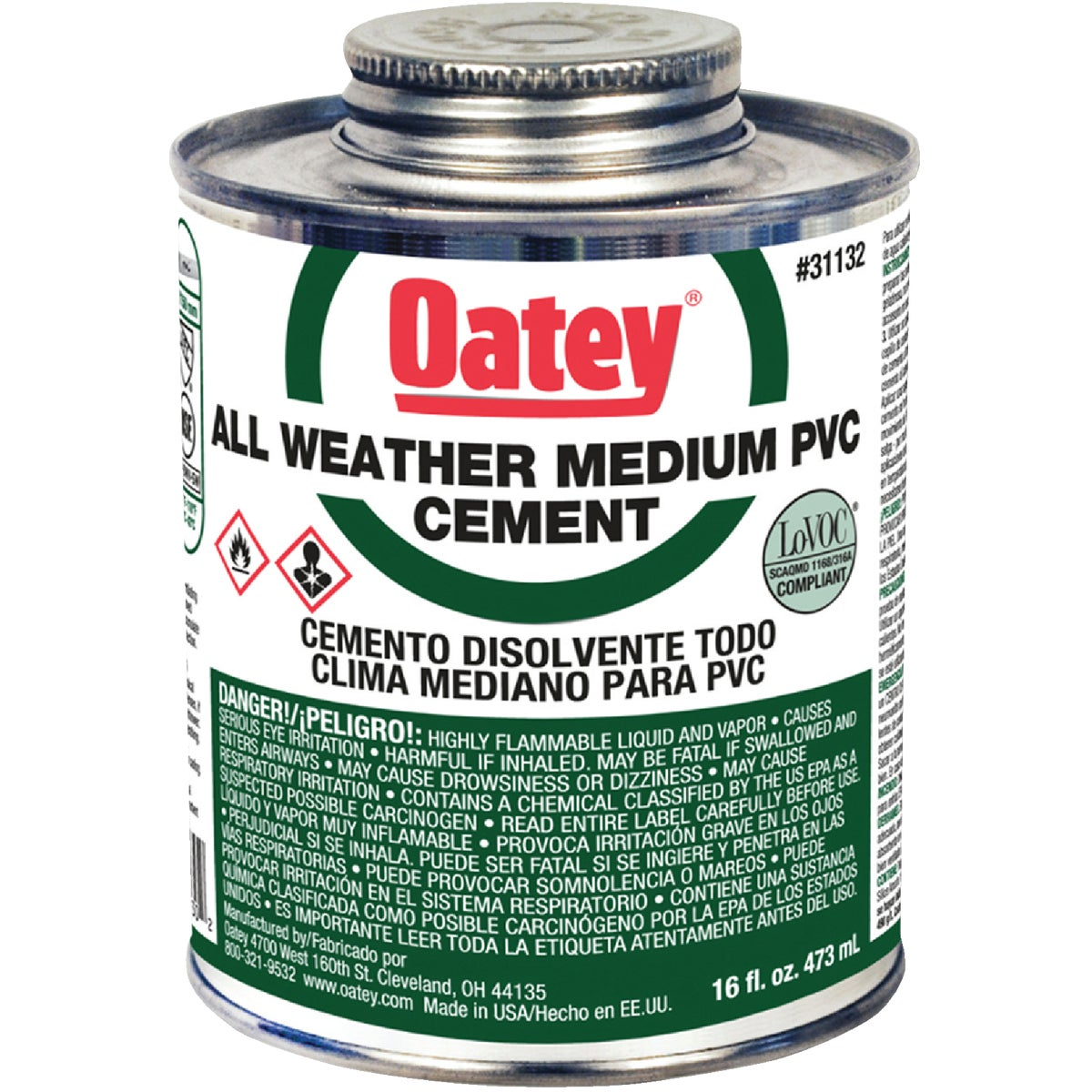 PINT PVC CEMENT - 31132 by Oatey Scs