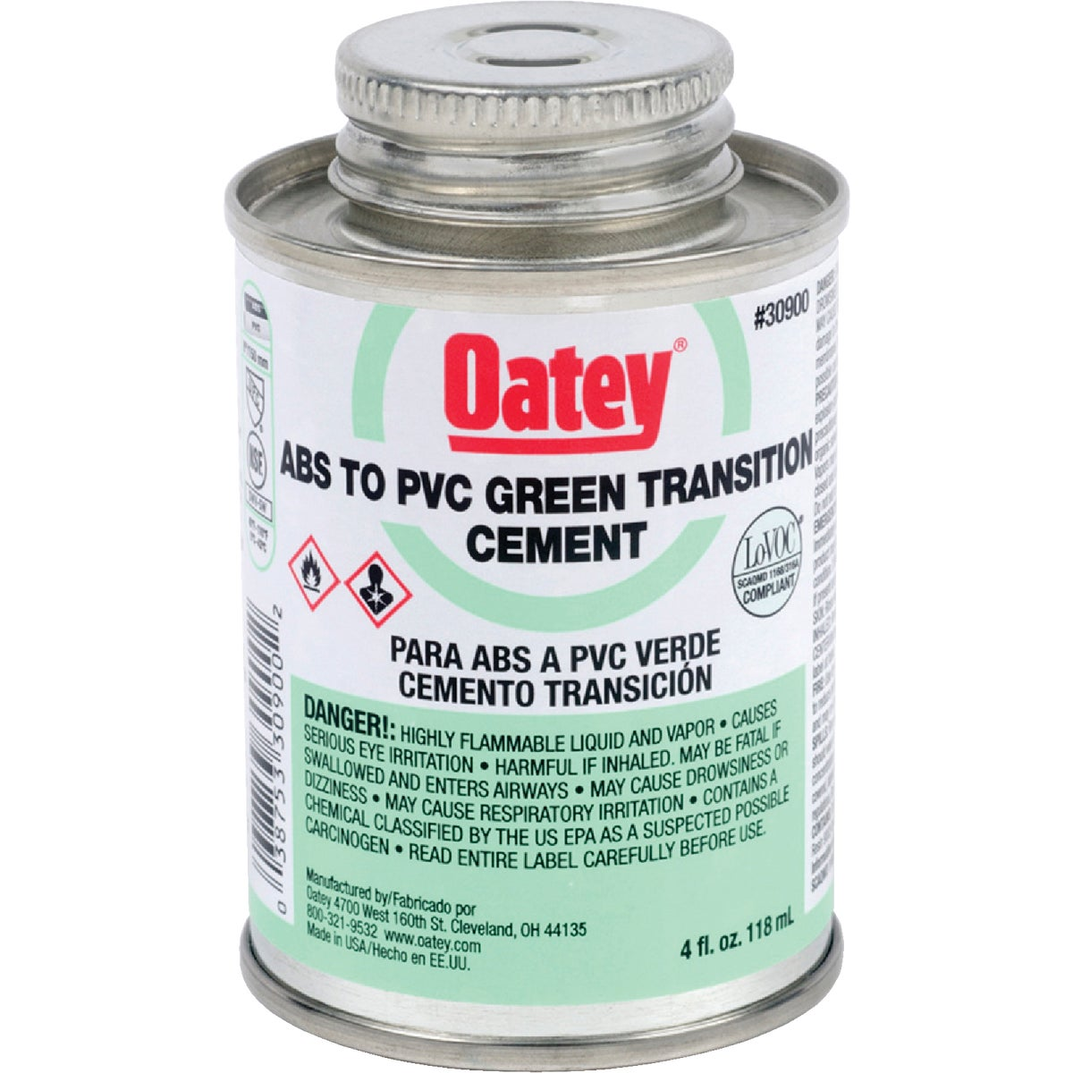 1/4PINT ABS/PVC CEMENT - 30900 by Oatey Scs