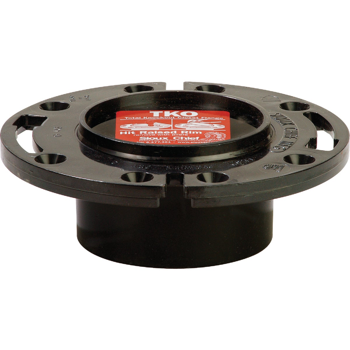 4X3 K/O ABS CLOST FLANGE - 883-AT by Sioux Chief Mfg