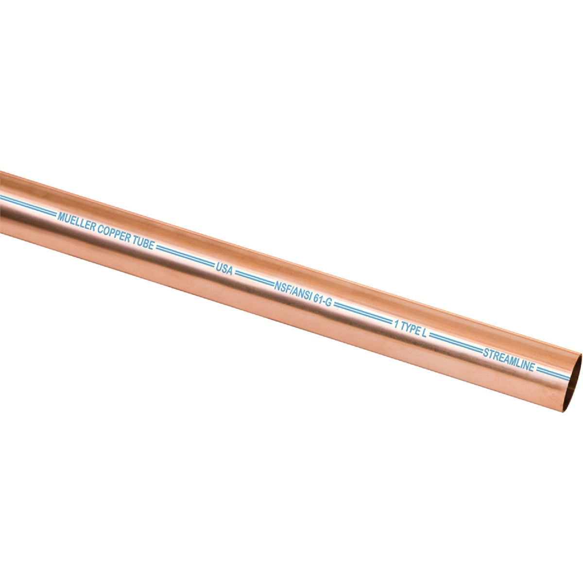 "1""IDX20' L COPPER PIPE -  by Mueller B K"