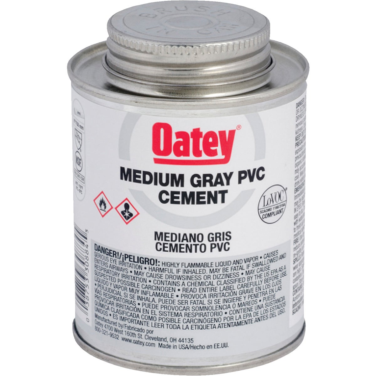 QT GRAY PVC CEMENT - 30886 by Oatey Scs