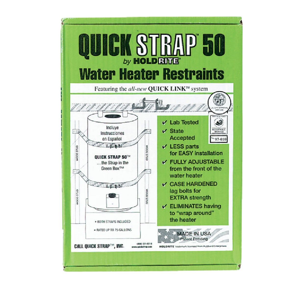 WATER HEATER STRAP - QS-50 by Holdrite Div Hubbard