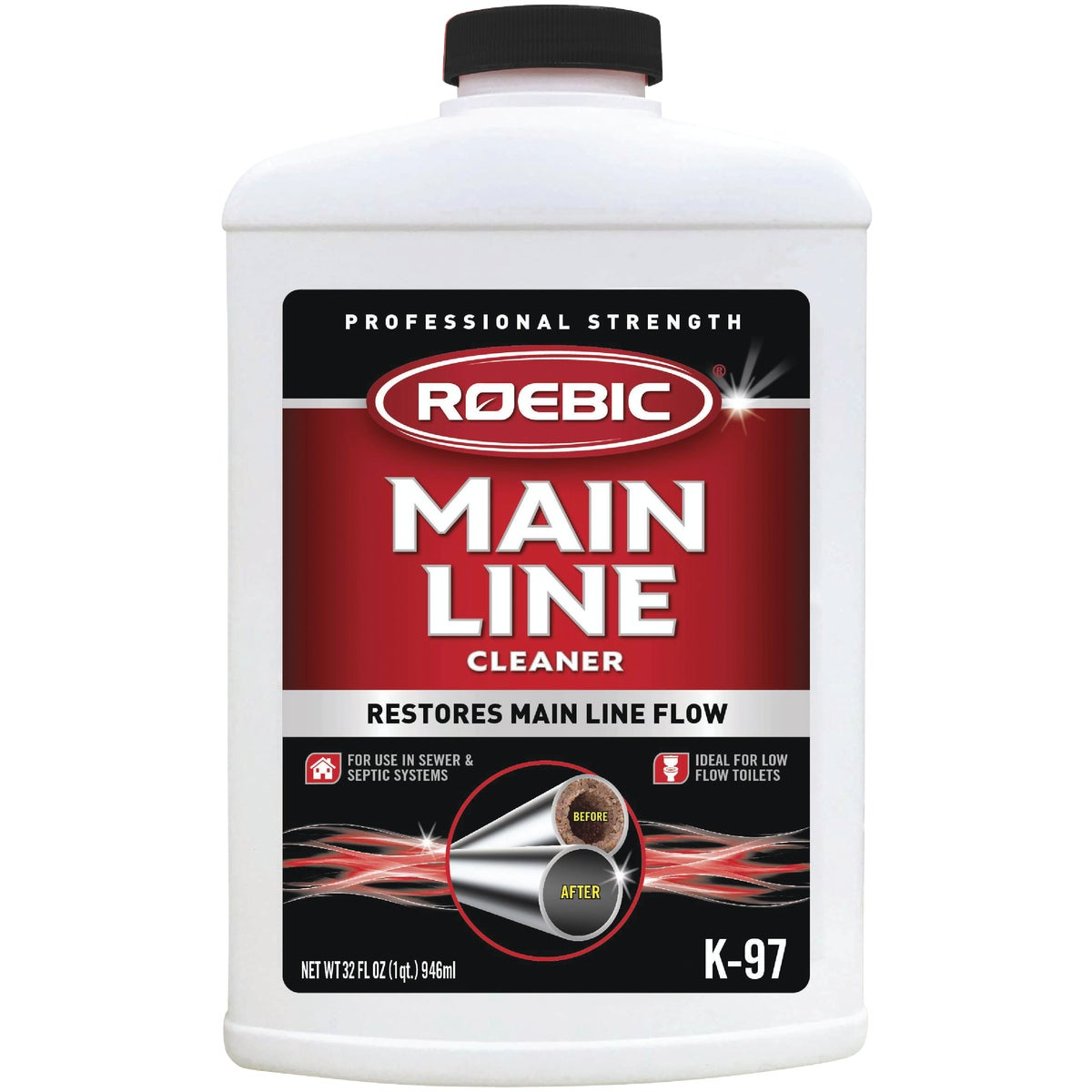 QUART MAINLINE CLEANER - K97-Q-12 by Roebic Laboratories