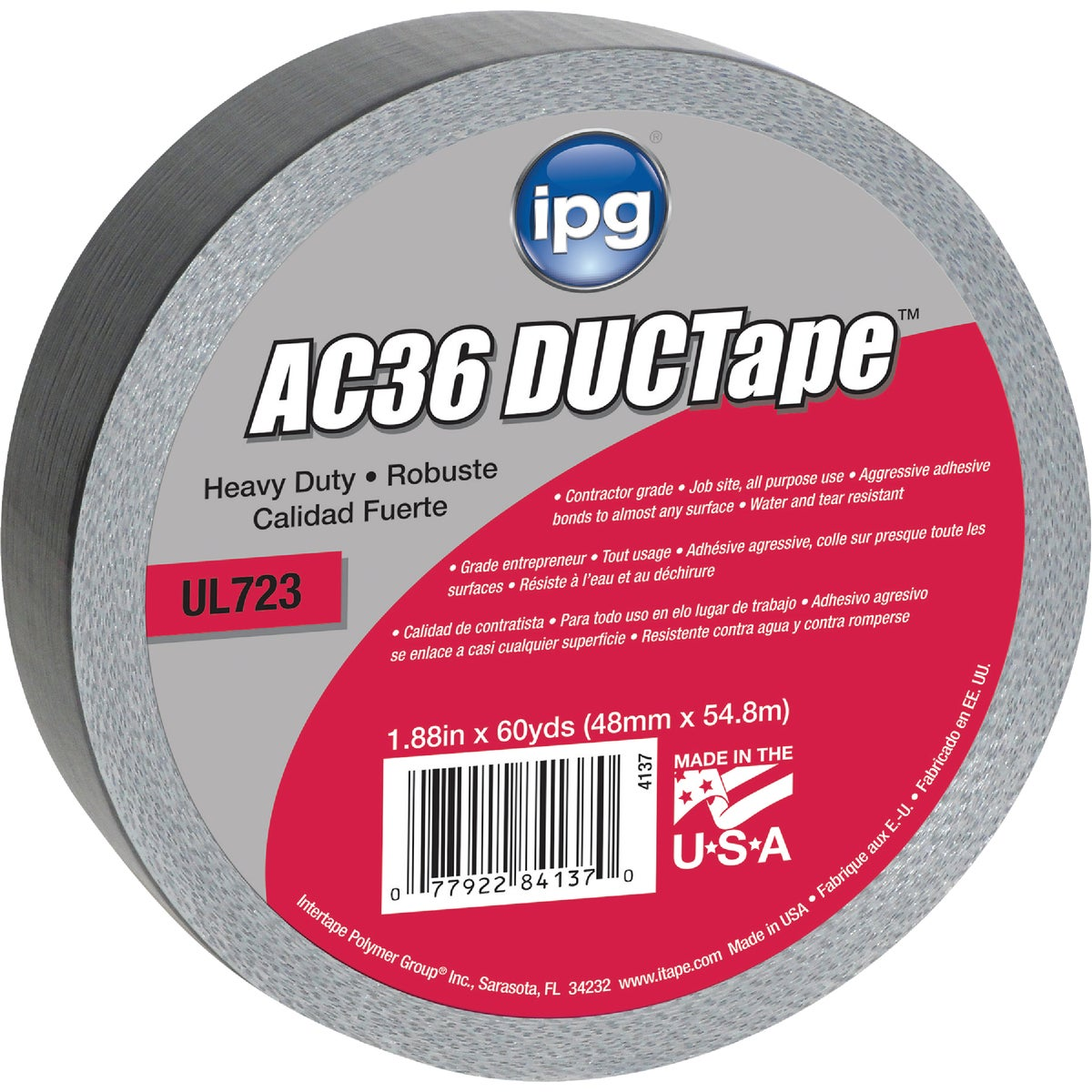 60YD ANCHOR36 DUCT TAPE - 84137 by Intertape Polymer