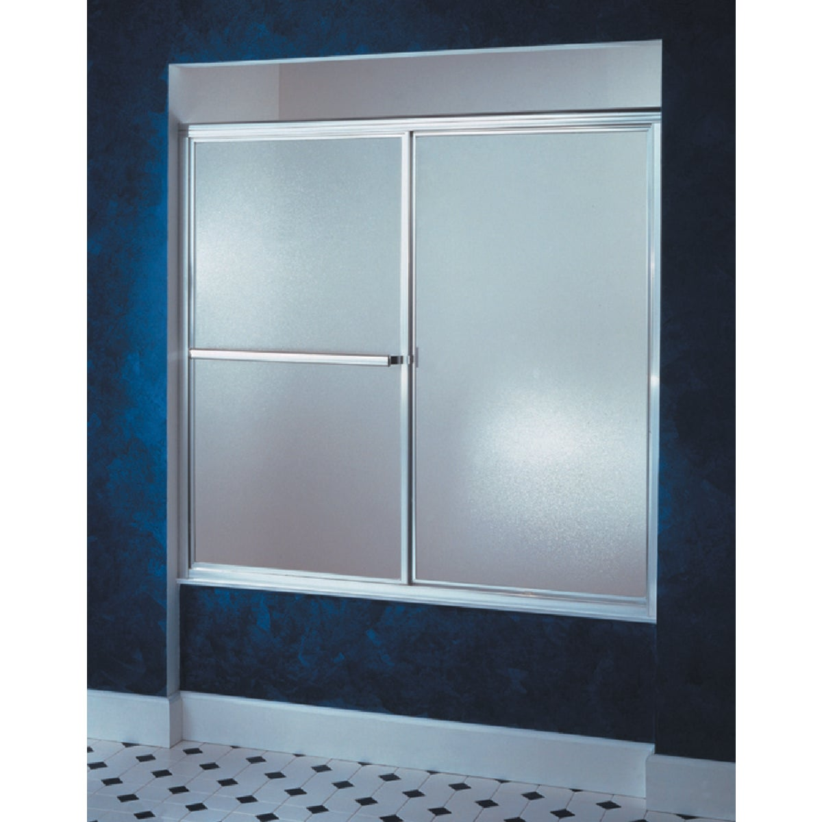 51-1/4-59-3/8 SLV TUB DR - 5906-59S by Sterling Doors