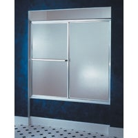 Silver By-Pass Tub Door