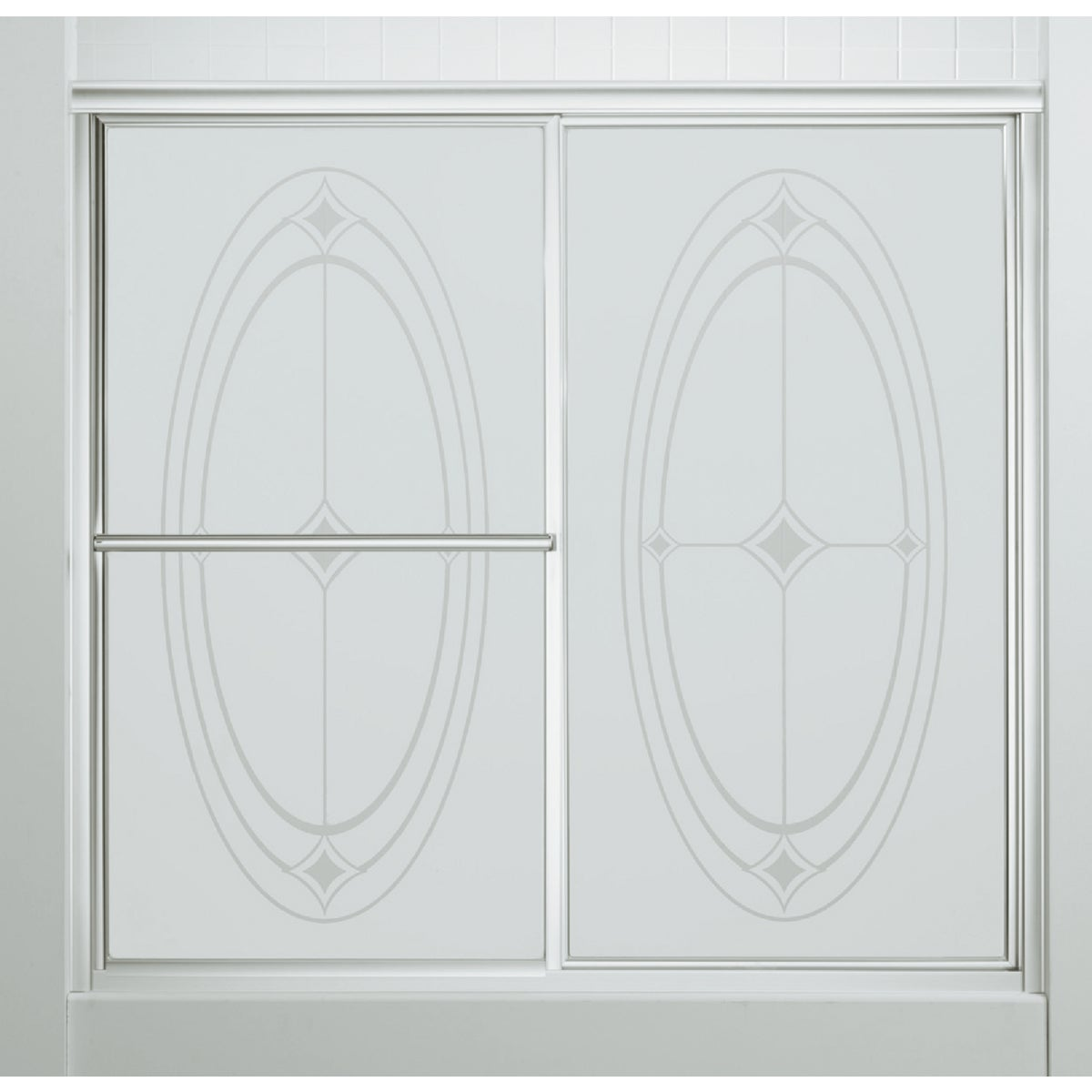 SILVER BY-PASS TUB DOOR - 5907-59S by Sterling Doors