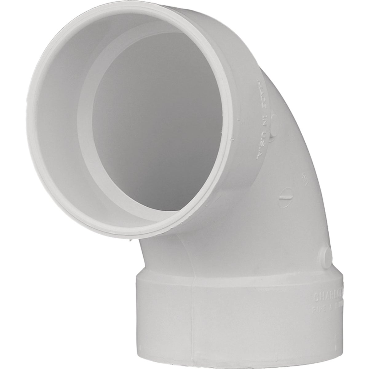"6""90D DWV SANITARY ELBOW - 72860 by Genova Inc  Pvc Dwv"