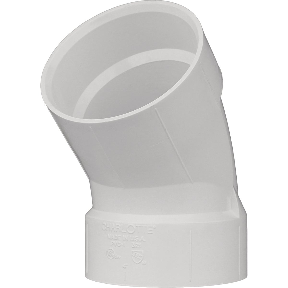 "6"" 45D PVC-DWV ELBOW - 70660 by Genova Inc  Pvc Dwv"