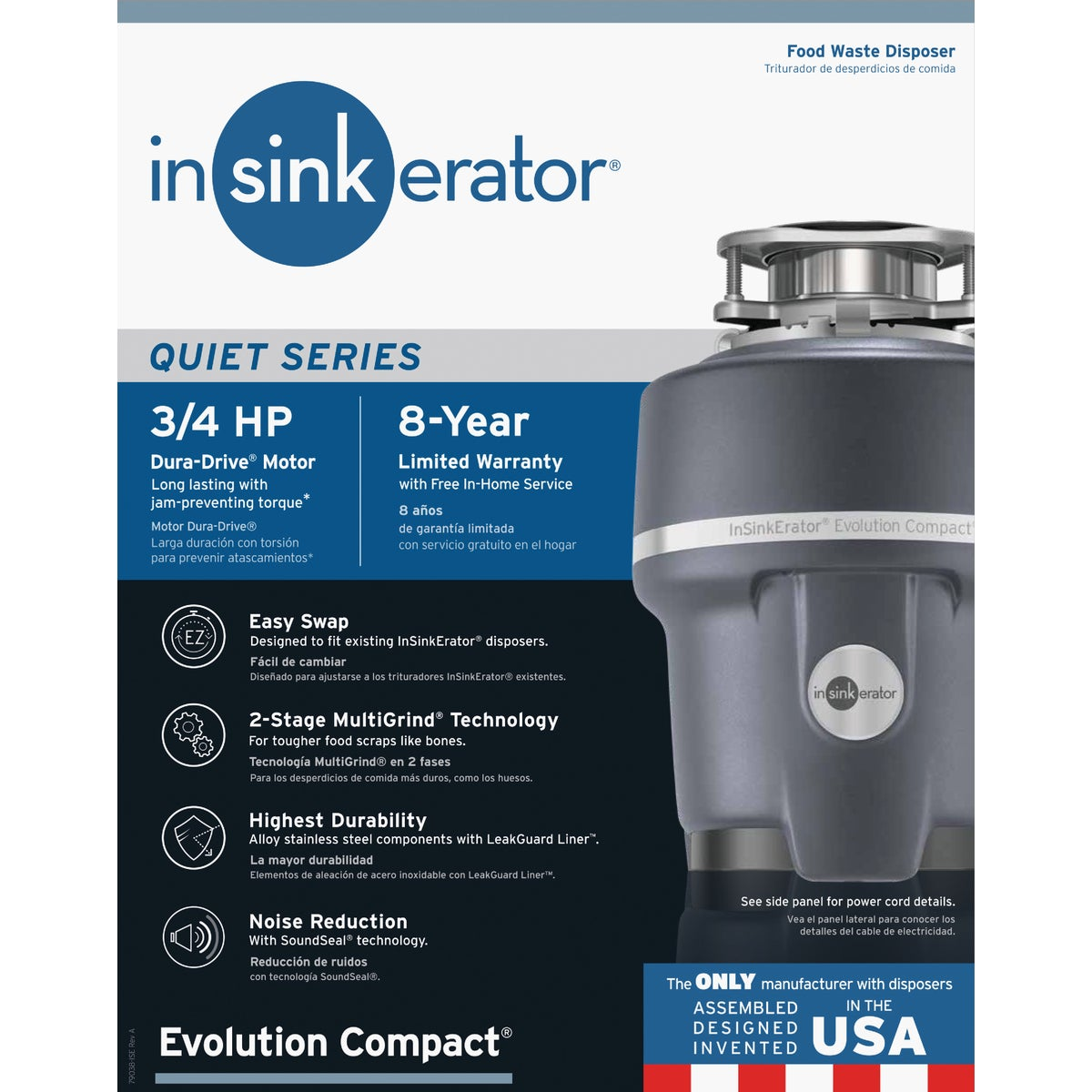 COMPACT 3/4HP DISPOSER - 74979 by Insinkerator Evergrd
