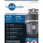 3/4 HP Compact Disposer