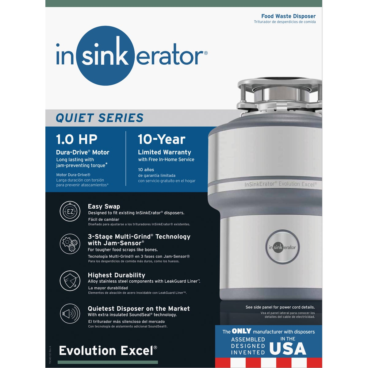 EXCEL 1HP DISPOSER - 74030 by Insinkerator Evergrd