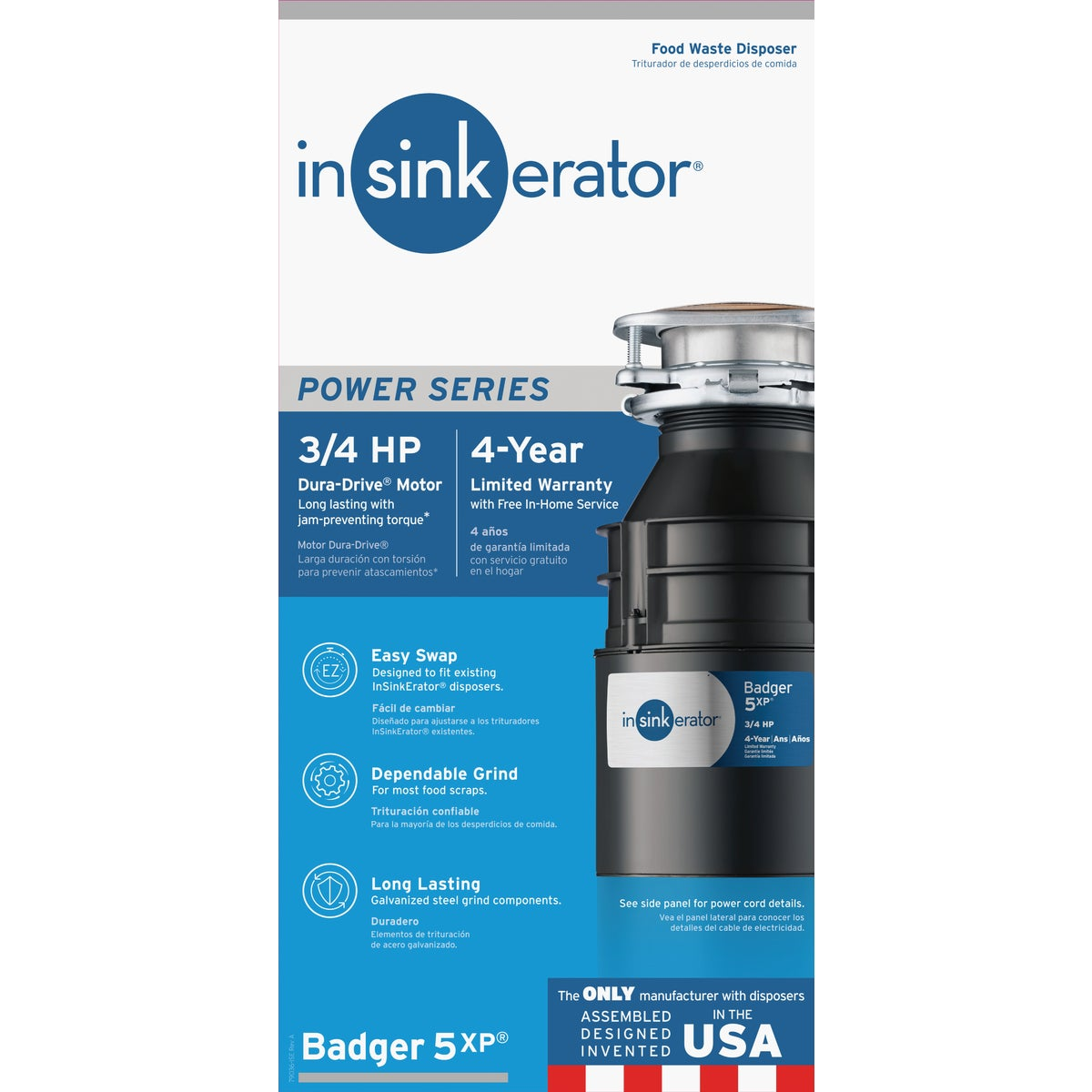 3/4HP GARBAGE DISPOSER - B5XP by Insinkerator Evergrd