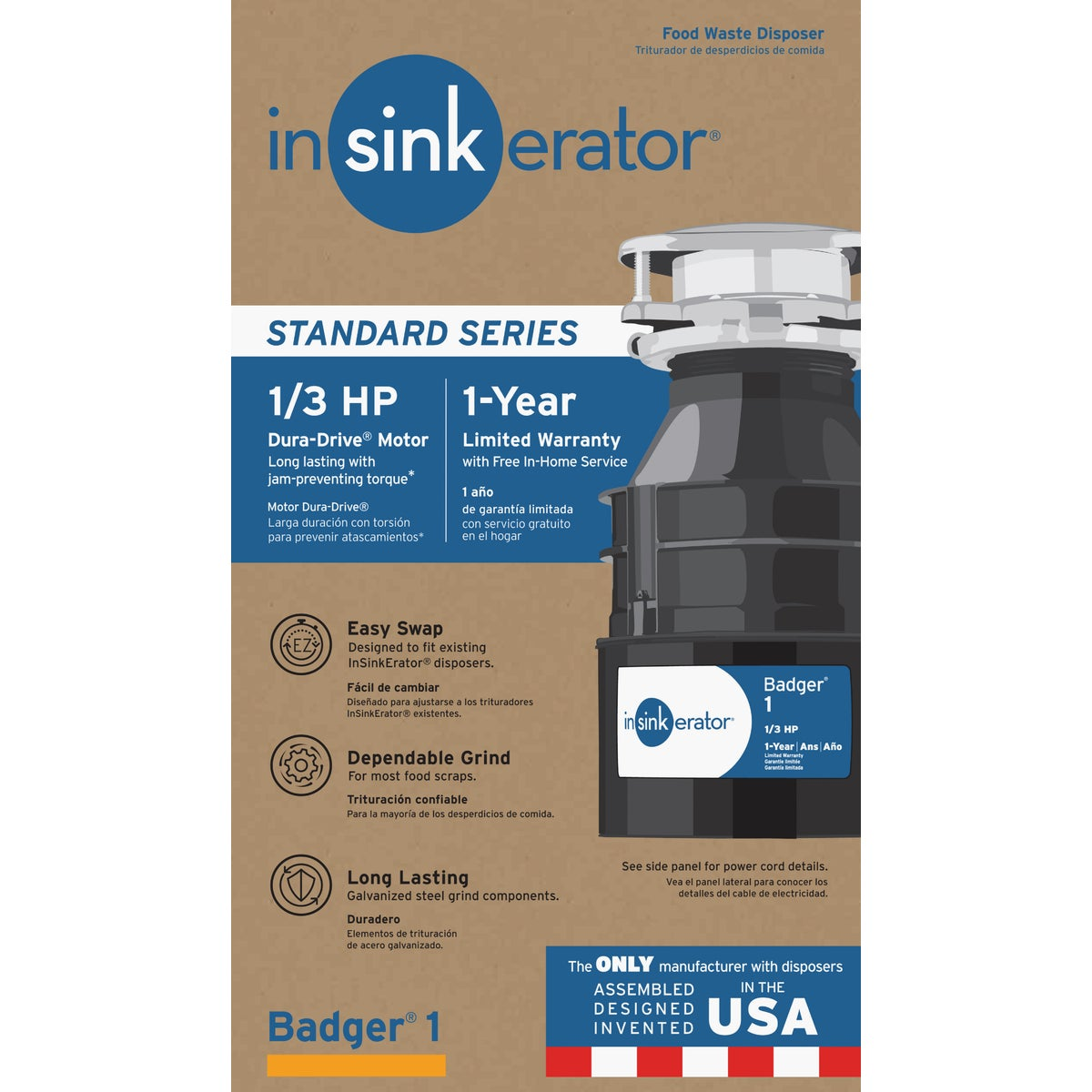 1/3HP GARBAGE DISPOSER - B1 by Insinkerator Evergrd