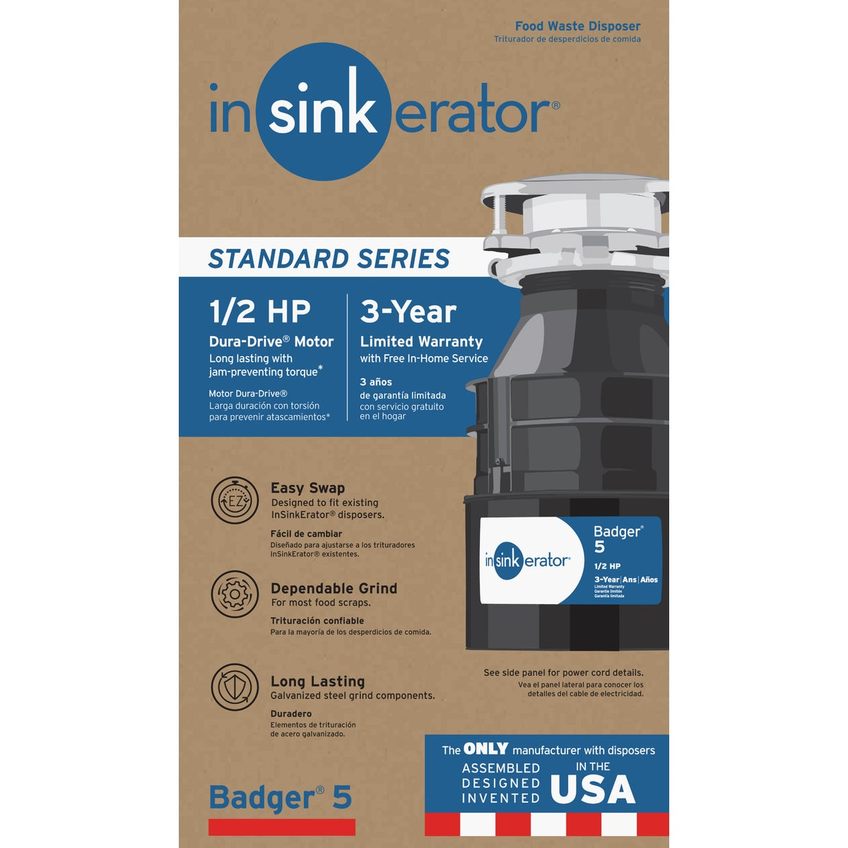 1/2HP GARBAGE DISPOSER - B5 by Insinkerator Evergrd
